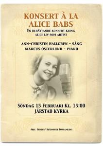 """Konsert á la Alice Babs"""